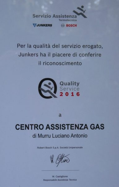 Quality Service Junkers Bosch 2016